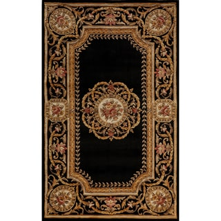 Aubusson Medallion Hand-tufted Wool Area Rug (5' x 8')