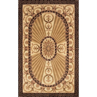 Aubusson Regal Hand-tufted Wool Area Rug (5' x 8')