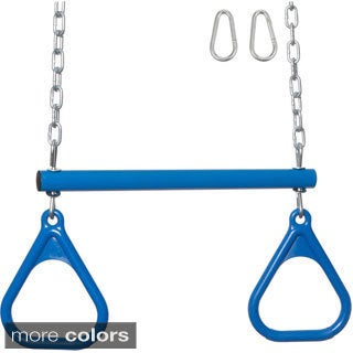 Swing Set Stuff Trapeze Bar/ Rings with Uncoated Chain