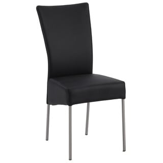 Christopher Knight Home Zendaya Black Upholstered Modern Dining Chair (Set of 4)