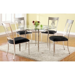 Christopher Knight Home Elena Round Glass Pedestal Dining Table