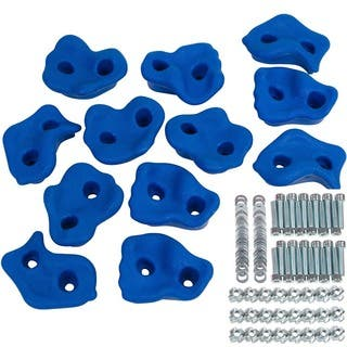 Swing Set Stuff Textured Rock Holds Set of 12 with Mounting Hardware