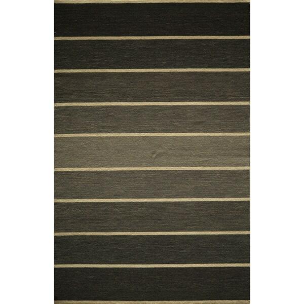 Momeni Marquis Grey Hand-Woven Wool Rug (5' X 8') - 5' x 8'