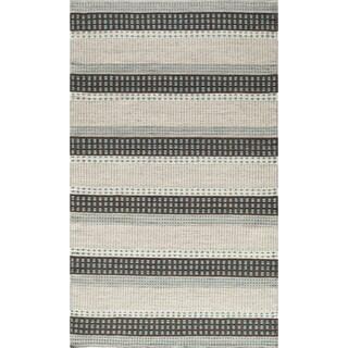 Momeni Mesa Blue Hand-Woven Wool Reversible Rug (5' X 8')