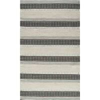 Momeni Mesa Blue Hand-Woven Wool Reversible Rug (5' X 8') - 5' x 8'
