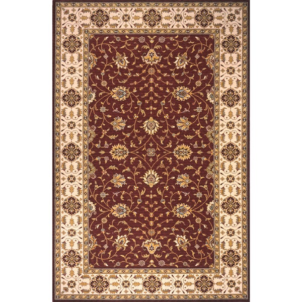 Momeni Persian Garden Burgundy NZ Wool Rug (5' X 8')