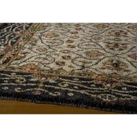 Momeni Persian Garden Charcoal NZ Wool Rug - 5' x 8'