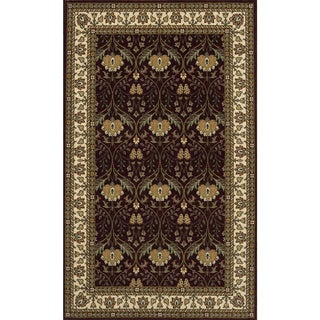 Royal Persian Floral Hand-finished New Zealand Wool Area Rug (5' x 8')