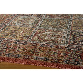 Royal Persian Panel Hand-finished New Zealand Wool Area Rug (5' x 8')