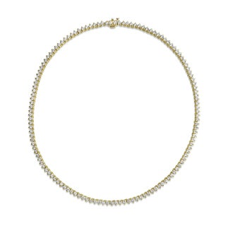 SummerRose 18k Yellow Gold 11 1/2ct TDW Diamond Tennis Necklace (H-I, VS1-VS2)