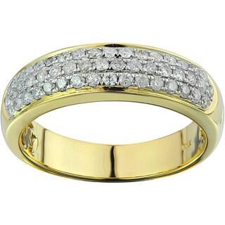 10k Yellow Gold 0.72ct TDW Diamond Unisex Band Ring