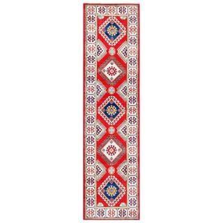 Herat Oriental Afghan Hand-knotted Tribal Kazak Wool Runner (2'8 x 10')