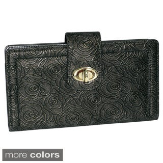 Buxton Women's Rose Garden Embossed Super Wallet