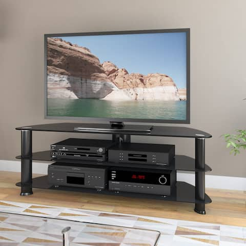 "Laguna Corner Satin Black TV Stand, for up to 60"" TVs"
