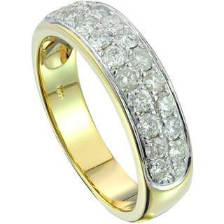 10k Two-tone Gold Unisex 1 1/4ct TDW White Diamond Band (G-H, SI3)