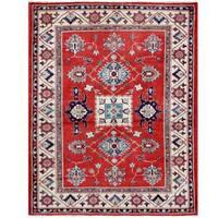Handmade Herat Oriental Afghan Tribal Super Kazak Wool Rug (Afghanistan) - 4'11 x 6'5