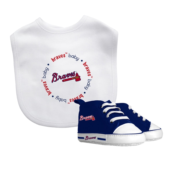 Baby Fanatic Atlanta Braves Bib and Pre-walker Shoes Gift Set