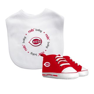 Baby Fanatic Cincinnati Reds Bib and Pre-walker Shoes Gift Set