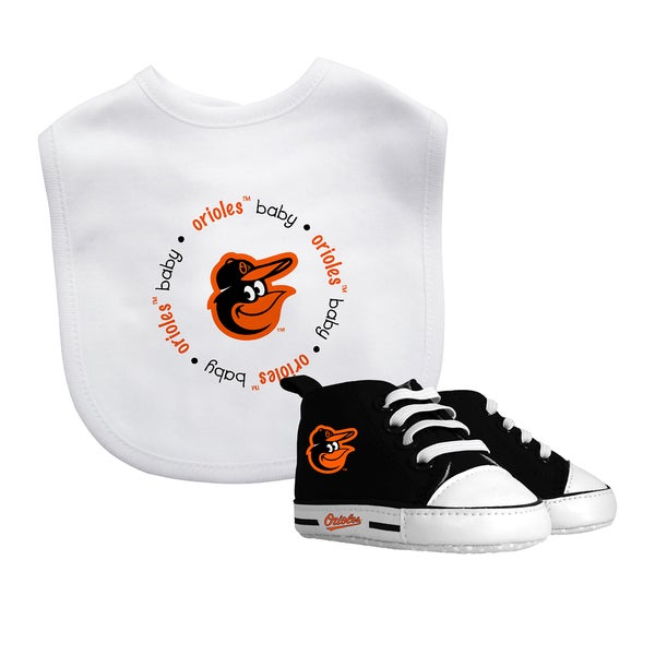 Baby Fanatic Baltimore Orioles Bib and Pre-walker Shoes Gift Set