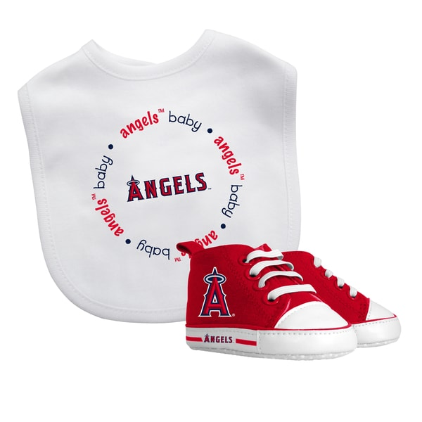 Baby Fanatic Los Angeles Angels Bib and Pre-walker Shoes Gift Set