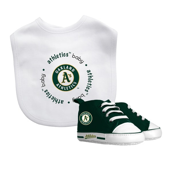 Baby Fanatic Oakland Athletics Bib and Pre-walker Shoes Gift Set