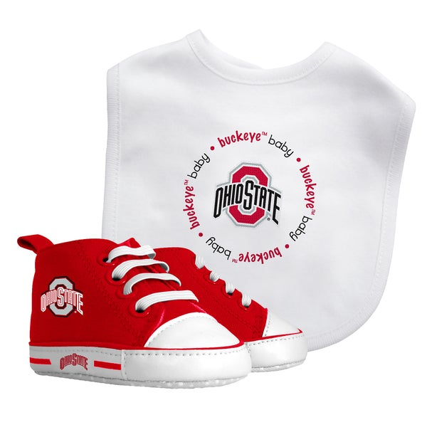 Baby Fanatic Ohio State Buckeyes Bib and Pre-walker Shoes Gift Set