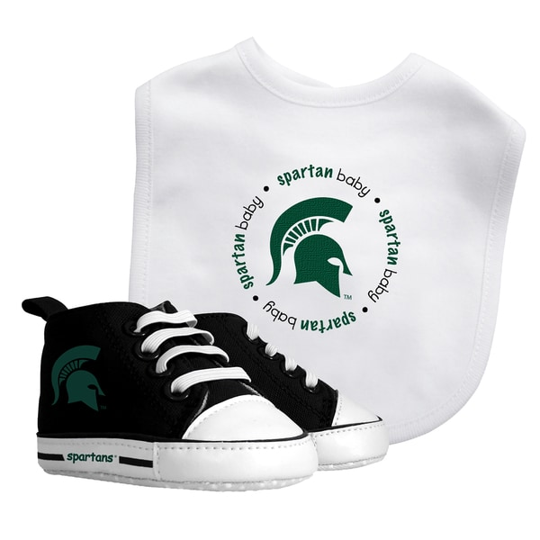 Baby Fanatic Michigan State Spartans Bib and Pre-walker Shoes Gift Set