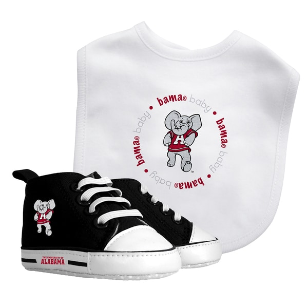 2376898be Shop Baby Fanatic Alabama Crimson Tide Bib and Pre-walker Shoes Gift Set -  Free Shipping On Orders Over  45 - Overstock.com - 9959559