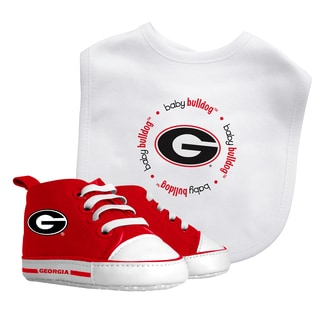 Baby Fanatic Georgia Bulldogs Bib and Pre-walker Shoes Gift Set