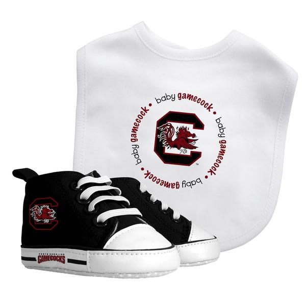 South Carolina Gamecocks Bib and Pre-walker Shoes Gift Set