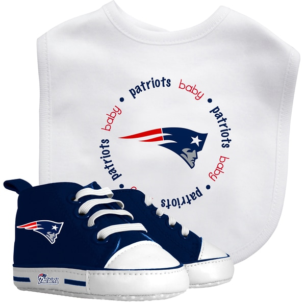 Baby Fanatic New England Patriots Bib and Pre-walker Shoes Gift Set