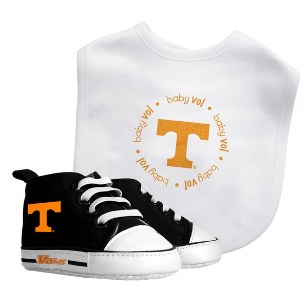 Baby Fanatic Tennessee Volunteers Bib and Pre-walker Shoes Gift Set