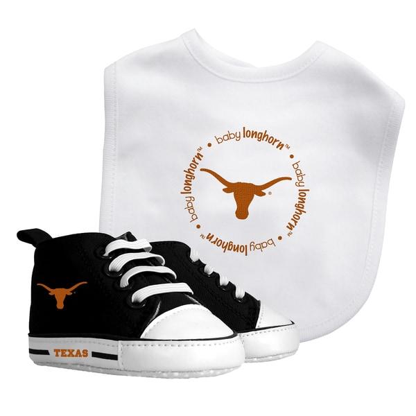 Baby Fanatic Texas Longhorns Bib and Pre-walker Shoes Gift Set