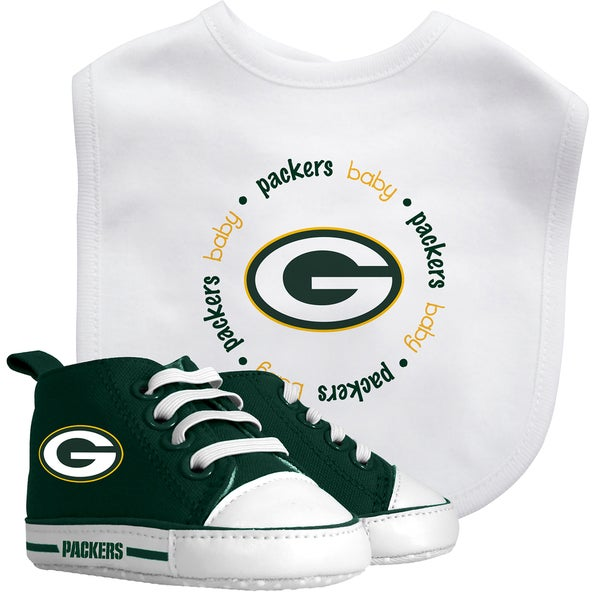Baby Fanatic Green Bay Packers Bib and Pre-walker Shoes Gift Set