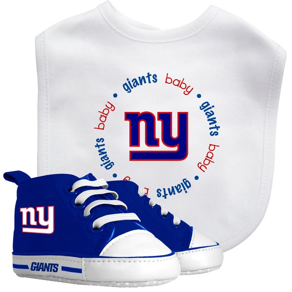 Baby Fanatic New York Giants Bib and Pre-walker Shoes Gift Set