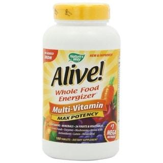 Nature's Way Alive! Multi-Vitamin Max Potency (180 tablets)