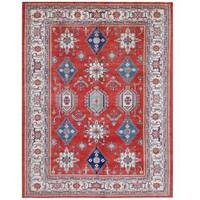 Herat Oriental Afghan Hand-knotted Tribal Super Kazak Wool Rug - 9'3 x 12'2