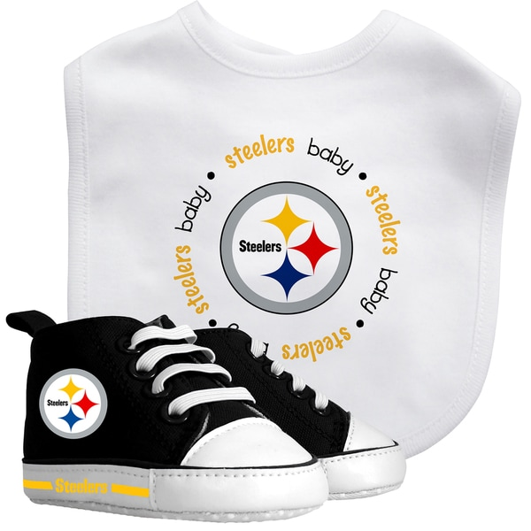 Baby Fanatic Pittsburgh Steelers Bib and Pre-walker Shoes Gift Set
