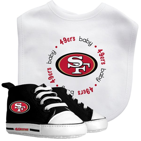 Baby Fanatic San Francisco 49ers Bib and Pre-walker Shoes Gift Set