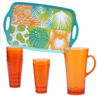 Certified International Paradise 8-piece Beverage Set