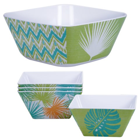 Certified International Paradise 5-piece Salad Serving Bowl Set