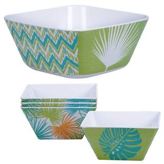 Certified International Paradise 5-piece Salad Serving Bowl Set