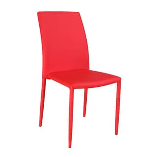 Christopher Knight Home Farrah Red Fully Upholstered Stackable Dining Chair (Set of 4)