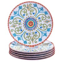 Certified International Tuscany Painted 9-inch Salad/ Dessert Plates (Set of 6)