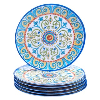 Certified International Tuscany Painted 11-inch Dinner Plates (Service for 6)