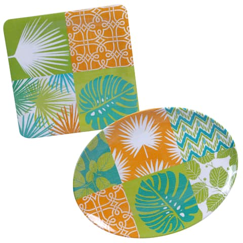 Certified International Paradise Painted 2-piece Platter Set