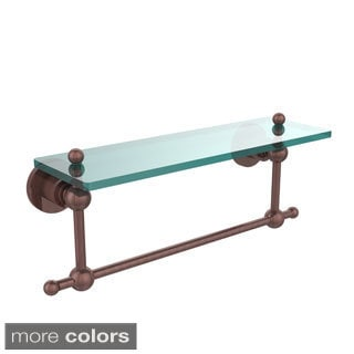 Allied Brass Astor Collection Glass Shelf with Towel Bar
