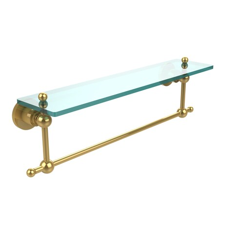 Allied Brass Allie Brass Astor Place Collection Glass Shelf with Towel Bar