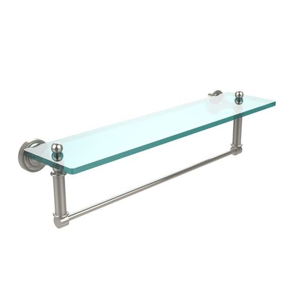 Allied Brass Dottingham Collection Glass Shelf with Towel Bar