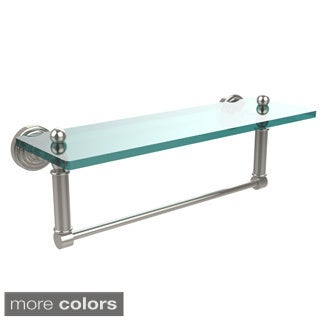 Allied Brass Waverly Place Collection Glass Shelf with Towel Bar